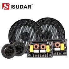 ISUDAR SU601 komponent samochodów System głośnikowy 6.5 Cal 2 Way drzwi pojazdu Auto Audio głośniki Stereo zestaw HiFi z głośnikiem wysokotonowym zwrotnicy