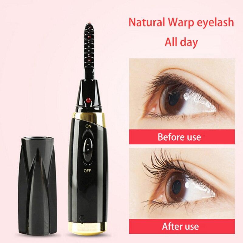 Electric eyelash curling device lasting mini electric hot curler perm