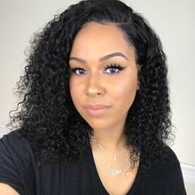 Short 4x13 Lace Front Human Hair Wigs Brazilian Curly Bob Wig For Black Women Remy Pre Plucked With Baby