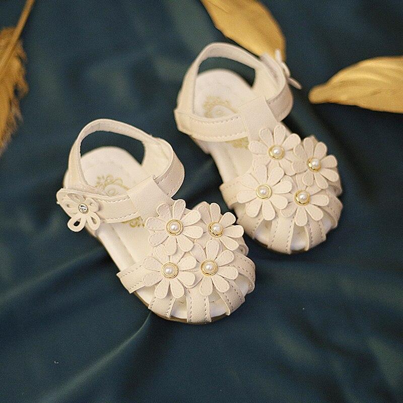 baby toddler sandals kids girls sandals soft bottom baby shoes children infant girls princess shoes flower sandals non-slip 0-2