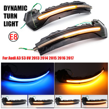 Dynamic Blinker Mirror Light For Audi A3 8V S3 RS3 2013 2018 LED Turn Signal Side Indicator Lamp Car Accessories