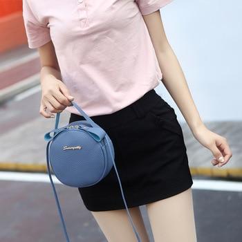 Round Design Shoulder Bags For Women 2019 Luxury PU Leather Handbags Small Crossbody Messenger Bags Ladies Purses Bolsa Feminina 3