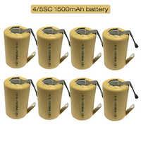 4/5SC 1,2 V 1500 мА/ч, SC Subc Ni-CD Перезаряжаемые Батарея Никель никель-кадмиевые со сварочным вкладки для Мощность Инструмент Аккумулятор для сверла