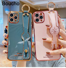 Electroplated Wrist Strap phone case for iphone 12Mini 12 Pro MAX 11Pro XS XR X SE 6 6s 7 8 plus luxury Phnom Penh plating cover