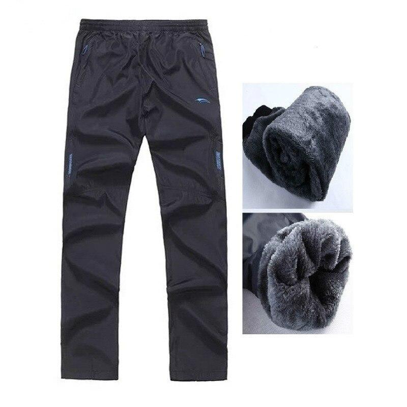 H830e2b91c78648dca4a1145868839841n Men's Super Warm Winter Pants Thick Wool Joggers Fleece Trousers Waterproof Sweatpants Windbreaker Cargo Pants Men 4XL 5XL 6XL