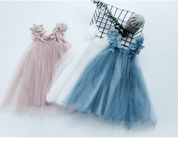 2020 Girls New Yarn Skirt Princess Puffy girls dress princess clothes girl kids dresses for