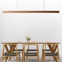 Nordic Solide Holz Anhänger Lichter LED Holz Anhänger Lampen für Esszimmer Wohnzimmer Küche Büro Shop Lange Streifen Hängen Lampe