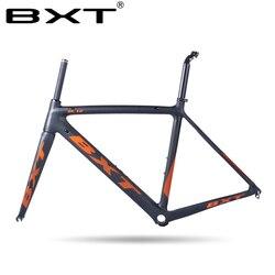 Quadro da bicicleta de estrada carbono 2020 di2 e mecânica 500/530/550mm super leve carbono quadro de estrada + garfo fone ouvido carbono quadro da bicicleta
