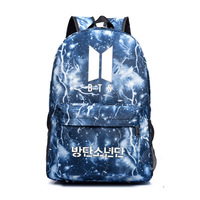 Young surrounding lightning is canvas bag bag backpack female students