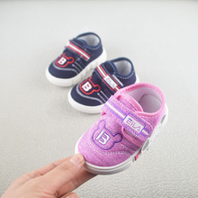 New born shoes Spring 2019 New Soft-soled Injection Molded Baby Shoes Cartoon Skid-proof and Air-permeable Canvas shoes baby цена