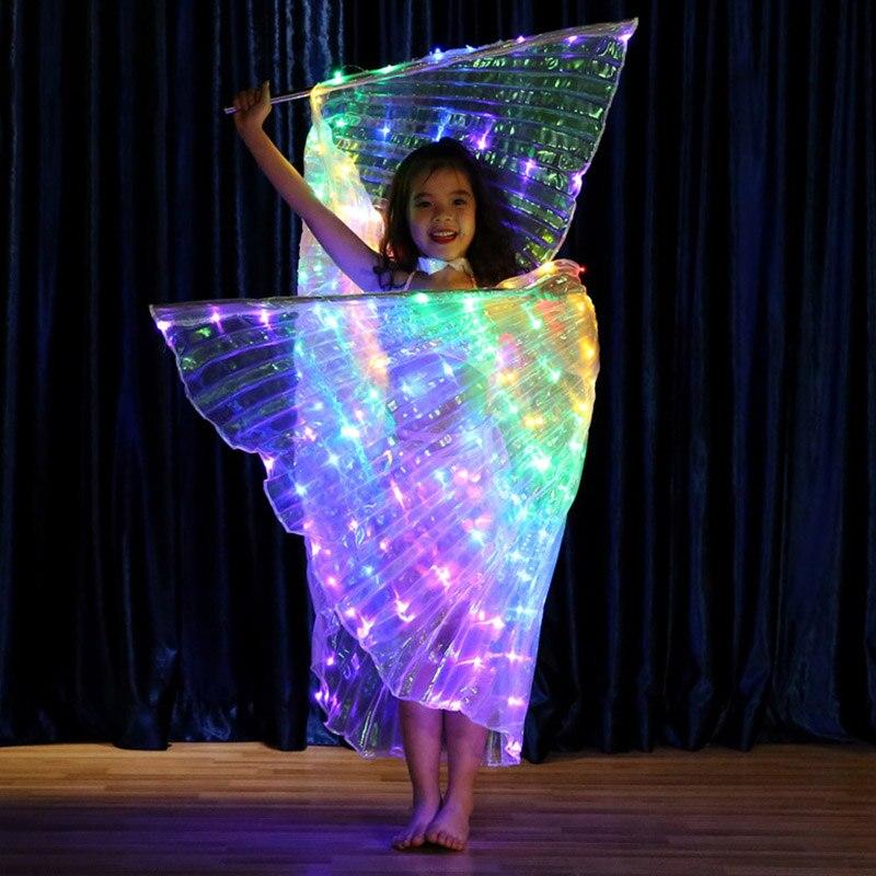 Pour carnaval Pour Halloween ou No/ël Aile de papillon DirkFigge Cape LED Performance lumineuse Ailes de f/ée pour enfants danseurs