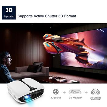 VANKYO Burger A101MQ DLP Mini Projector 1080P 3D Wireless Rechargeable Mini Projector for iPhone Android Laptop for Home & Out 3