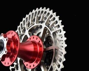 Image 4 - Mtb バイク SLR2 カセット超軽量 10 11 12 速度 42/46/50 t cnc バイクフリーホイール 10s 11s 12s フライホイール K7 スプロケット hg システム
