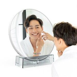 Цифровая фоторамка круглый волшебное зеркало косметический 7 дюймов Экран светодиодный HD электронный альбом для фотографий Музыка Фильмы Функция, хороший подарок для ребенка Цифровые фоторамки      АлиЭкспресс