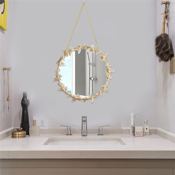 Nordic style Golden Hanging Mirror Butterfly Hanging  Mirror  2