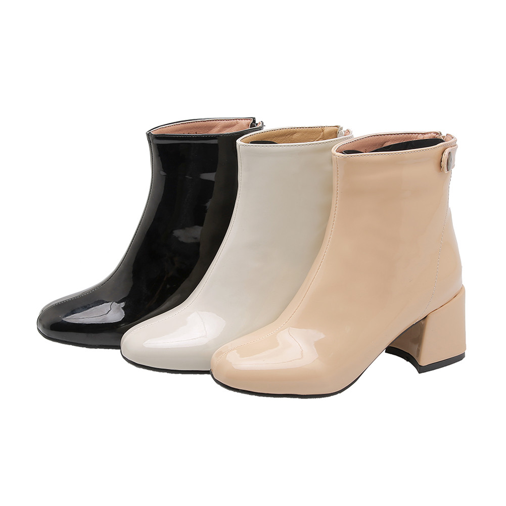 KARINLUNA New Fashion Ankle Boots Ladies High Heels Plus Size 32 46 Shoes Woman Casual Party Office Autumn Winter Boots Women in Ankle Boots from Shoes
