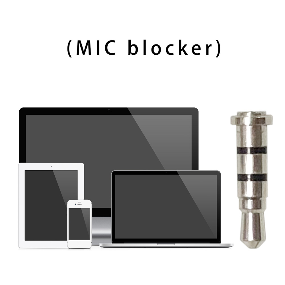 Effective Practical Audio Metal White Smart Phones Computer MIC Blocker Tablets Hanging Multipurpose Easy Carry Hacker Shield
