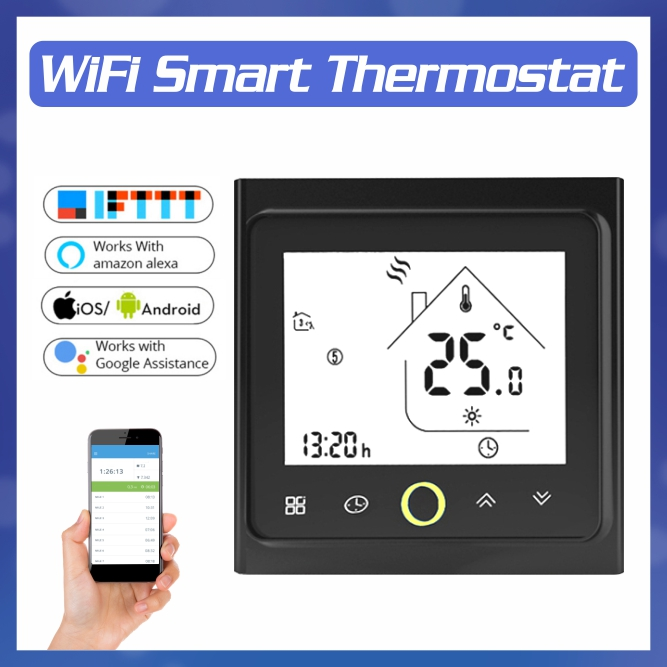 WiFi Thermostat Smart Temperature Controller For Water/Electric Floor Heating Water/Gas Boiler Works With Alexa Google Home