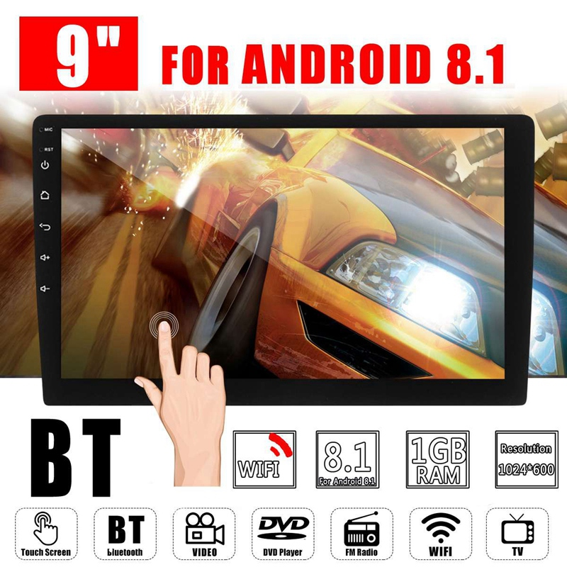 Din 9 Polegada 2 Rádio Do Carro Android 8.1 Universal Double Din Estéreo de Navegação Gps No Traço de Vídeo Wi-fi Bluetooth Usb rádio do carro Multi