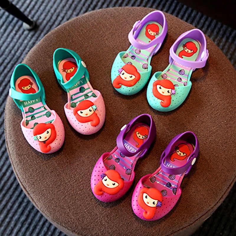 Toddler Kids Girls Cartoon Fashion Princess Shoes Jelly Shoes Children Sandals