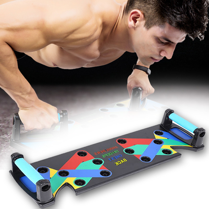 9 In 1 Push Up Rack Board Exercise At Home Body Building Comprehensive Fitness Equipment Gym Workout Training For Men Women