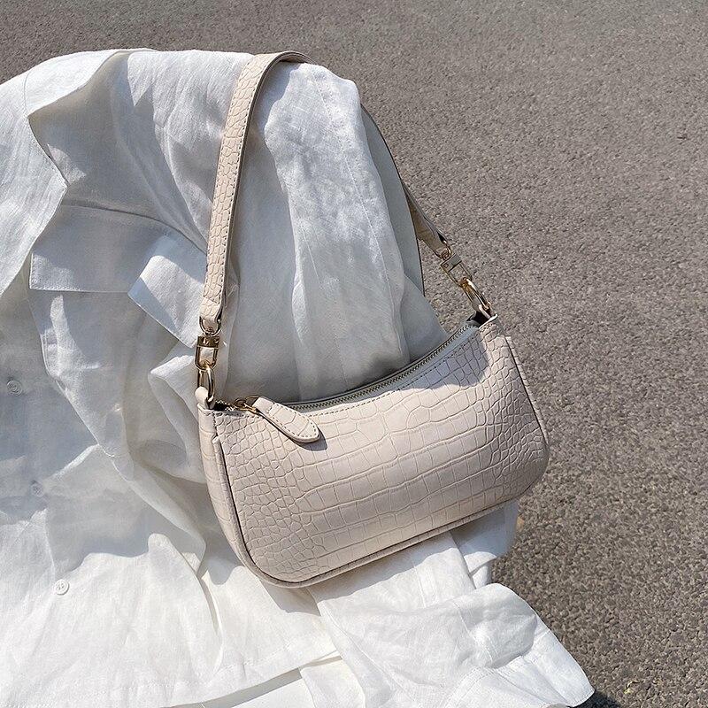 Small Chain Crocodile Pattern PU Leather Shoulder Bags For Women Luxury 2020 Crossbody Bag Travel Chain Purple Handbags Summer