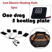 1 Set Electric Heating Pads 8.5W Thermal Clothes Warmer Heated Jacket Mobile Warming Gear Switch For DIY Heated Clothing
