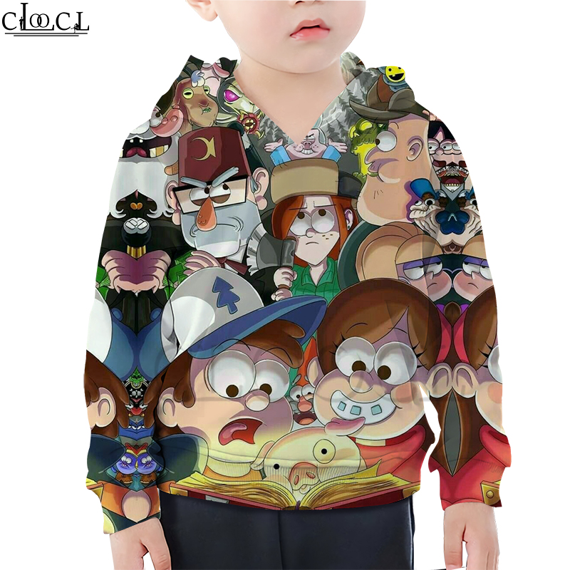 Kids Anime Gravity Falls Hoodie Boy Girl 3D Print Mommy And Me Creative Clothing Long Sleeve Sweatshirt Casual Naughty Baby Tops
