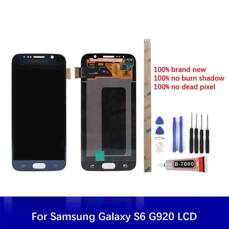 For <font><b>Samsung</b></font> Galaxy S6 <font><b>G920</b></font> G920F LCD <font><b>Display</b></font> Touch Replacement Parts Tools 5.1inch With Frame 100% Test 2560*1440 High Quality image