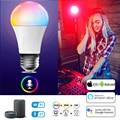 Smart LED лампа E27 B22 база с ИК-пульт дистанционного управления/WI-FI Bluetooth Управление 20 Вт ночной Светильник лампы Цвет изменение Edison Светильник ла...