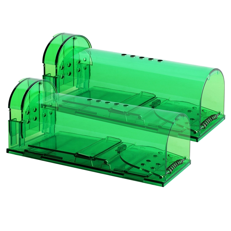 ABKT-Humane Smart Mouse Trap-2 Pack No Kill, Live Catch And Release Mouse Traps-Safe Around Kids & Pets-Works For Mice, Rats And