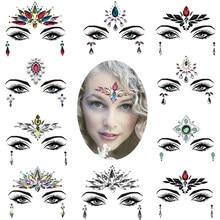 Tatouage autocollant moderne pour visage et yeux, produit à la mode, décoration en cristal scintillant, maquillage facial de nuit, bijoux de fête, faire soi-même,