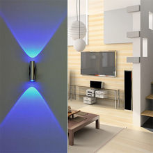 Doppel-headed LED Licht Schlafzimmer Blau Aluminium Wand Lampe Hause Leuchte LED Decor Bar KTV Veranda Wand Decke LED licht # F5(China)