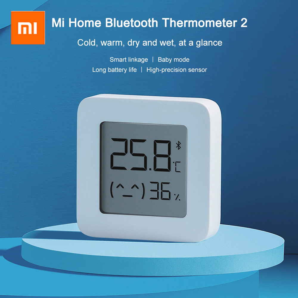 Upgrade Version XIAOMI Mijia Bluetooth Thermometer 2 Wireless Smart Electric Digital Hygrometer Thermometer Humidity Sensor Home