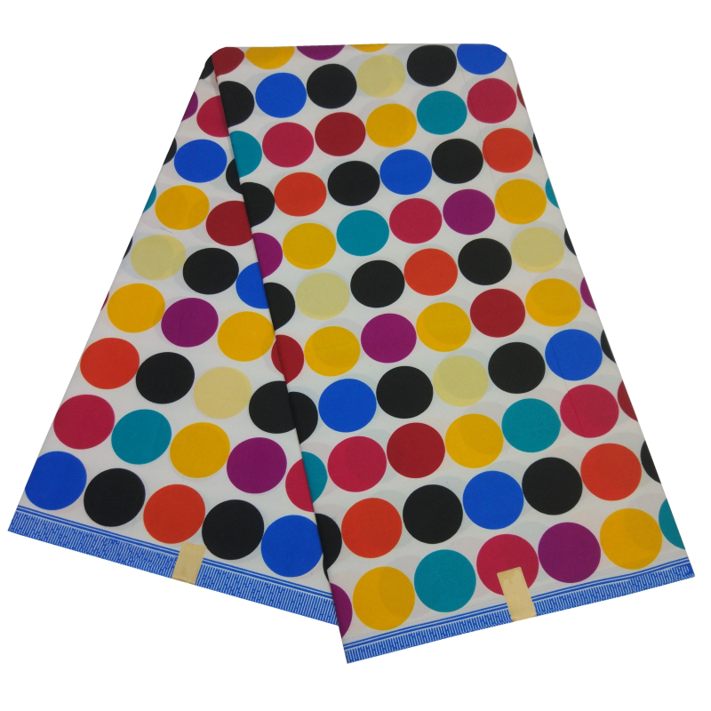Latest African 100% Polyester Colorful Round Prints Fabric 2019 New Dutch High Quality Veritable Wax Dutch For A Wedding Dress