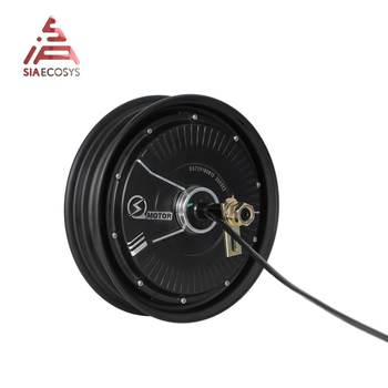 QS Motor 10*2.15inch 2000W 212 V1.12 60kph BLDC Motor Brushless and Gearless in Wheel Hub Motor for Electric Scooter image