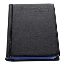 gr si Leather Business Card Book Large-Volume Business Card Holder Portable Business Gift Black