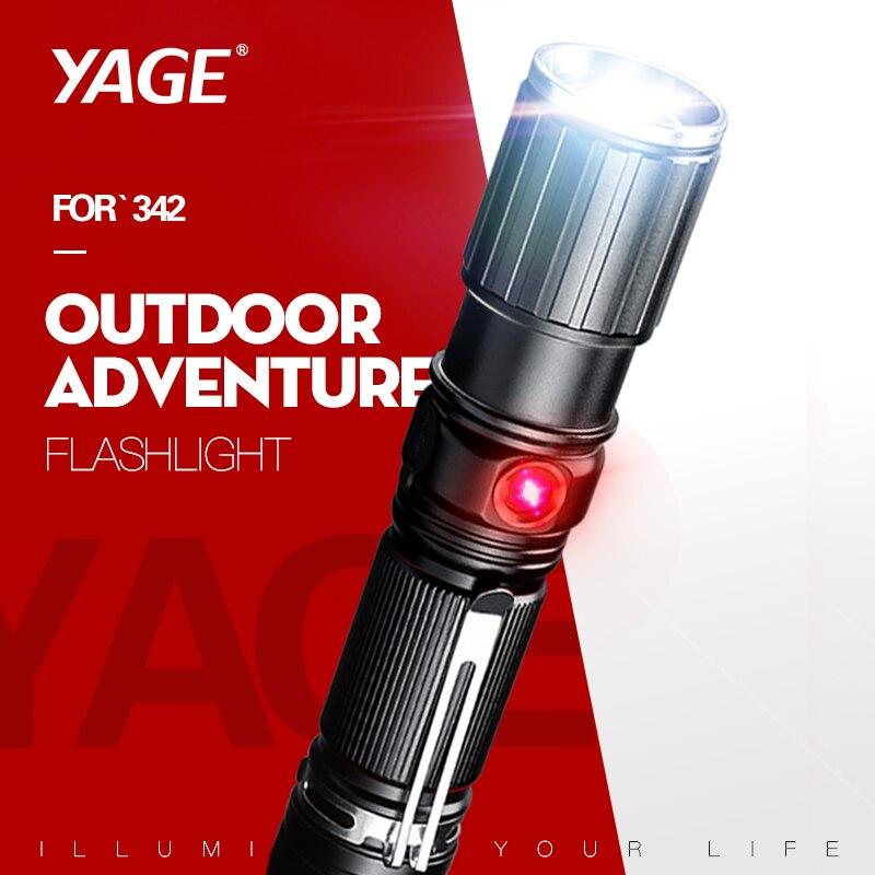 Puissant 10W xml T6 lampe de poche LED lumière rouge 5 Modes lampe de poche tactique télescopique Zoomable torche Flash lumière 18650 lanterne USB