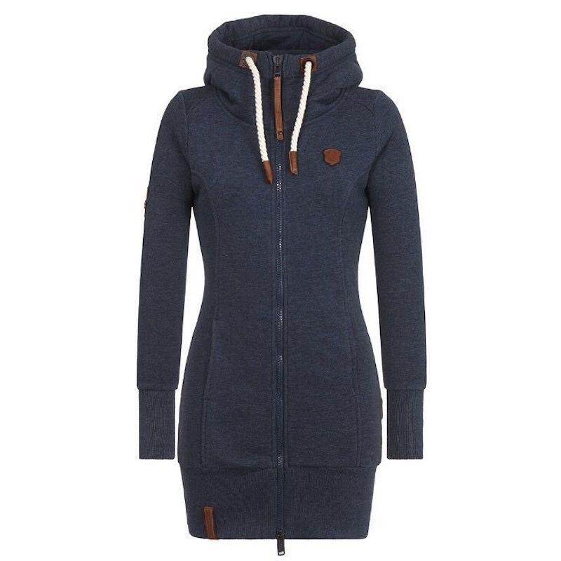 2019 Women Winter Autumn Jacket Women Long Coat Hooded Collar Soild Color Woolen Coat Female Clothes Plus Size M-5XL