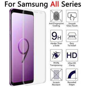 Protective Glass Case For Samsung Note 8 9 S9 S8 Plus S7 S6 Edge Tempered Glas Screen Protector Galaxy Not S 9 8 7 6 note9 note8(China)