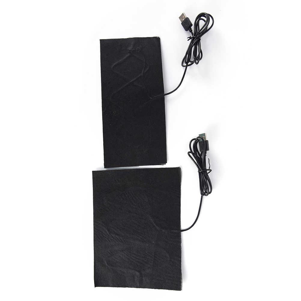 S/L ciepłe plecy szyja szybko nagrzewająca się poduszka elektryczna ogrzewacz dłoni USB folia grzewcza elektryczna zimowa gorączka podczerwieni mata grzewcza