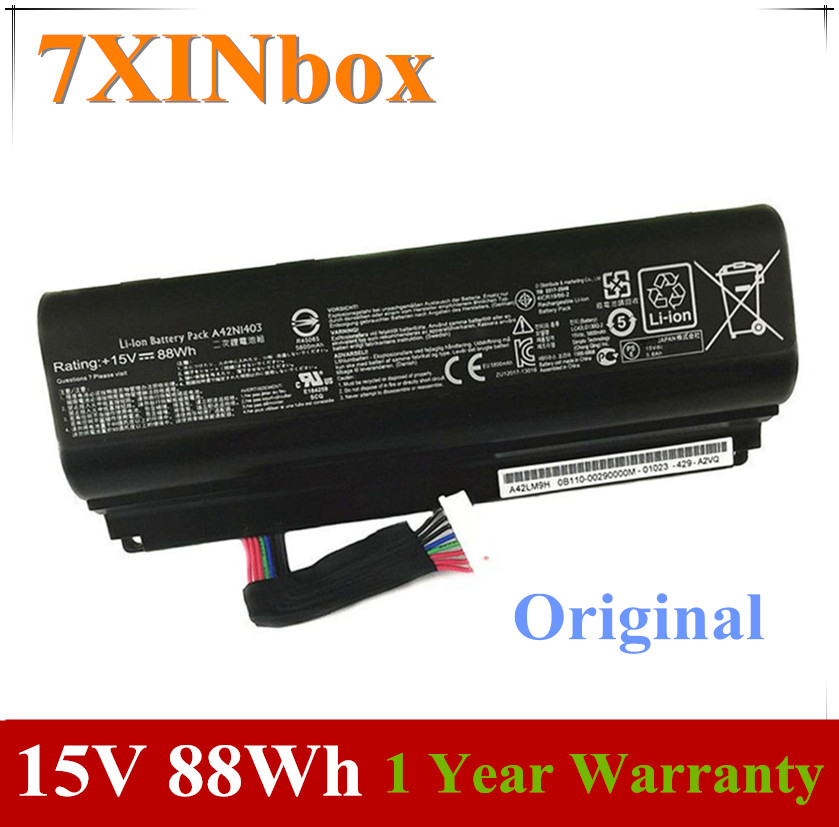 7XINbox 15V 88Wh Original A42N1403 Laptop Battery For <font><b>ASUS</b></font> <font><b>ROG</b></font> G751JY G751JM <font><b>G751JT</b></font> GFX71JY GFX71JT Notebook A42LM93 4ICR19/66-2 image