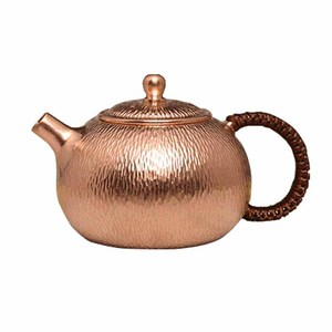 500ml 16oz qualidade superior martelado chaleira de chá chinês kung fu vermelho bule de chá de cobre com alça à prova de calor