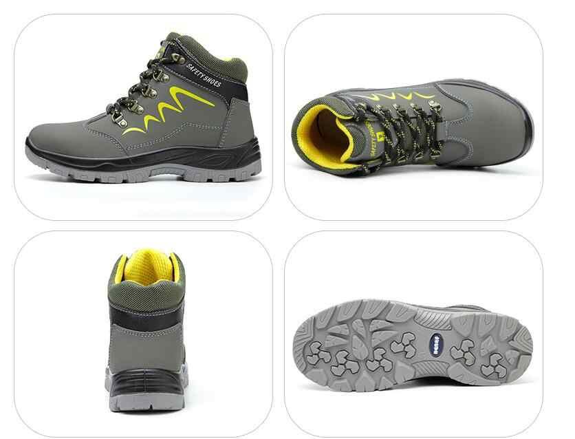 Gli Uomini di Inverno Caldo Peluche Impermeabile Puntale in Acciaio Stivali da Lavoro di Sicurezza Delle Donne a Prova di Puntura di Sport Tattico Escursioni in Montagna Scarpe da Ginnastica