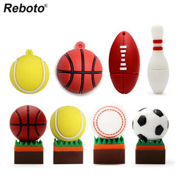 Cartoon ball usb flash drive football basketball baseball bowling rugby tennis ball USB flash drives pendrive 32gb cle usb stick