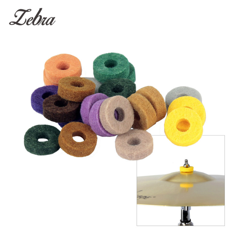 20 Pcs Colorful Cymbal Felt Pad Drum Percussion Instrument Accessories Kit Protection Effect For Drum Shelf Felt Slice Cymbals