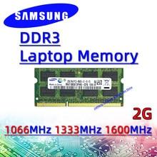 4GB 8GB Samsung ddr3 2GB 1066MHz 1333MHz 1600MHz RAM Sodimm Laptop Memory pc3- 8500S 10600S 12800S