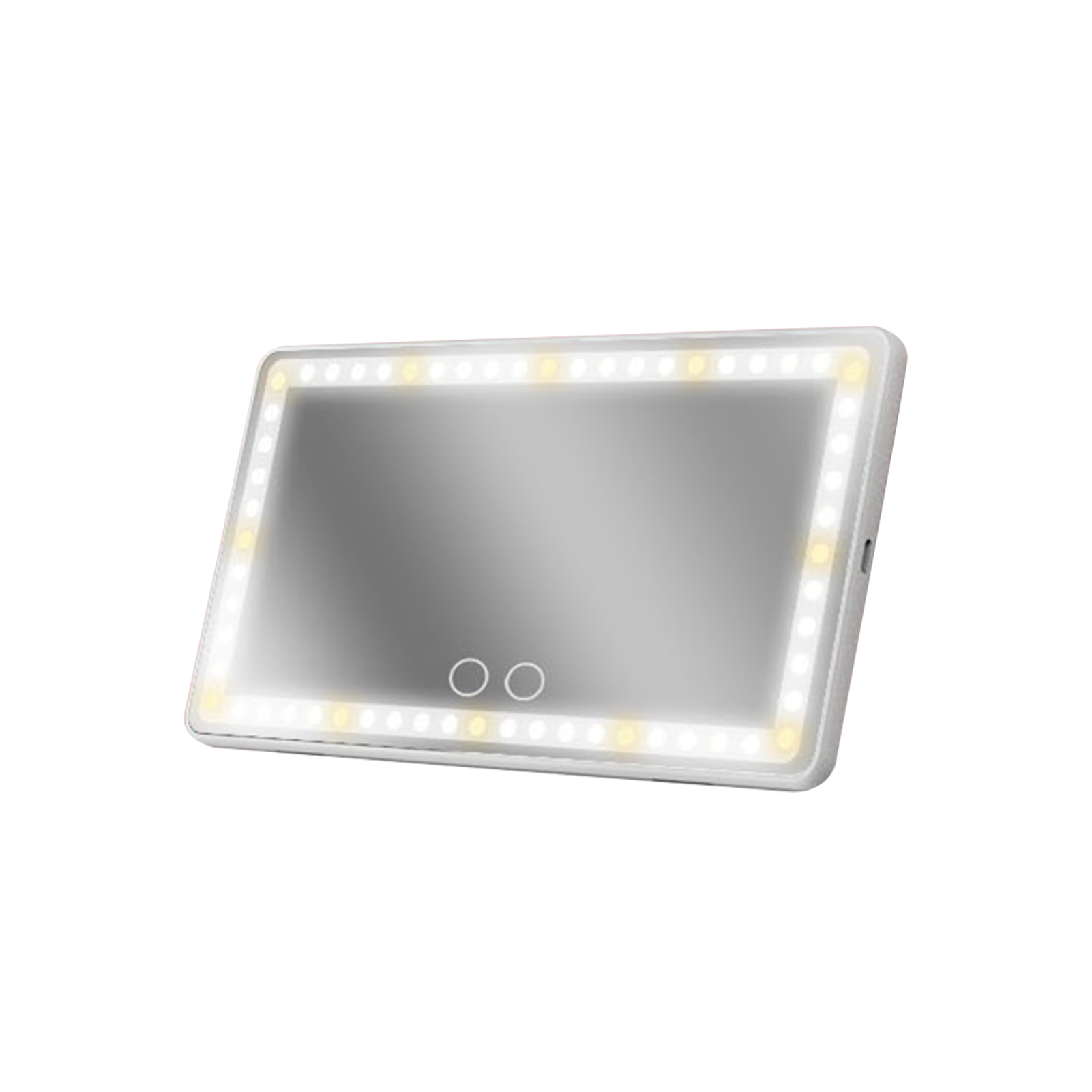 3 Modes Touch Control Universal Travel Sun Visor Cosmetic Interior With LED Lights Vehicle HD USB Rechargeable Car Makeup Mirror