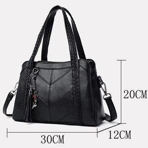 Image 4 - Soft Genuine Leather Tassels Tote Luxury Handbags Women Bags Designer Ladies Hand Shoulder Crossbody Bags for Women 2020 Sac