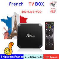Best Francese TV Box X96 mini Android TV Box con 1400 + 1 Anno di IP TV Europa Francia Arabo francais marocco M3U Smart IP TV Box tv